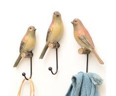 Portacappelli Little Bird, Appendiabiti Gancio portachiavi in resina, 6cm * 5cm * 20cm (Size : 6*5*20cm)