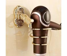 Portacappelli da bagno Portaoggetti in oro, ciondoli a muro per asciugacapelli