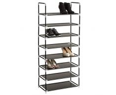 TecTake Scaffale scarpiera a ripiani portascarpe porta scarpe armadio mobile - disponibili in diverse misure - (8 ripiani | no. 402105)
