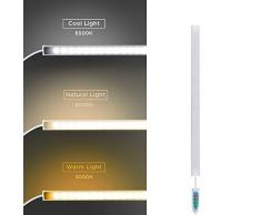 SOAIY Luce sottopensile cucina Lampada sottopensile Barra led cucina Ricaricabile USB magnetica a 3 Colori Fredda/Calda/Neutra Funzione di memoria per Cucina,Bagno,Armadio,Specchio, 30.8 x 1.75cm