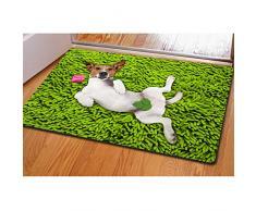Coloranimal, zerbino divertente con cane in 3D, antiscivolo, per esterno, per pulirsi le scarpe moderno dog-5