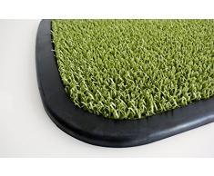AstroTurf Utopia Quadro Zerbino per Ingresso da Esterno, Gomma e Polietilene, Verde Mela, 75x50x2.5 cm