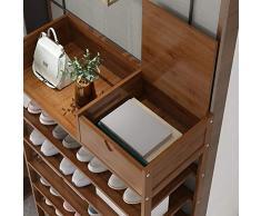 DULPLAY bambù Rastrelliera per Scarpe Casa di Stoccaggio Organizzazione Stoccaggio Scaffale Scarpe Naturale Durevole Rispettoso Dell'ambiente-a 50x25x63cm(20x10x25inch)