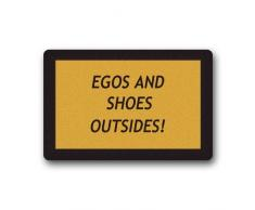 "GDESFR zerbino Custom Evergreen Fashion Quotes Humor Egos And Shoes Outside Machine Washable zerbino Gate Pad rug 23.6""(L) x 15.7""(W)"