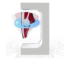 Mensola A Levitazione Magnetica, Scarpiera A Sospensione Magnetica A LED, Colleziona Scarpe da Esposizione, Regali Creativi per Gli Amanti delle Sneaker, Bianca