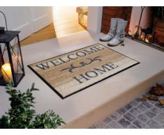 "Wash+Dry 009610 Zerbino ""Welcome Home"" 50x75 cm, colore: Beige [Lingua inglese]"