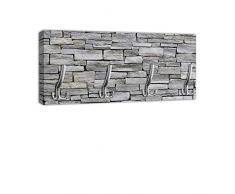 Appendiabiti con gancio da parete, design: pietra, DG311