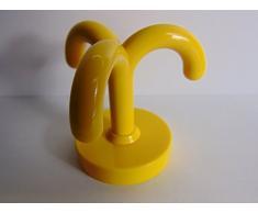 Tre volte tiktaktoo GedoTec girero giallo navone RAL 1021 tiktaktoo al soffitto con ganci appendiabiti in plastica girevole poliammide, - Made in Germany