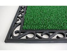 AstroTurf Utopia Mamut Zerbino per Ingresso da Esterno, Gomma e Polietilene, Verde Mela, 90 x 60 x 2.5 cm