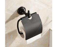 ETmla Portacappelli in metallo rivestito in rame in stile europeo spazzolato in acciaio satinato nero