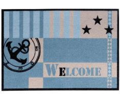 Andiamo 700687 - Zerbino Metropolitan, in poliammide lavabile a mano a 30° C, dimensioni: 50 x 70 cm, colore: Blu