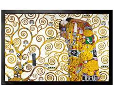 1art1 Gustav Klimt, L'Abbraccio (Dettaglio) Zerbino (60x40 cm) + Tappetino per Mouse (23x19 cm) Set Regalo