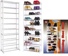 Scarpiera salvaspazio amazing shoe rack 30 paia di scarpe casa ripostiglio scaffale