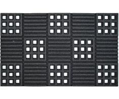 Dintex All Season flock-Zerbino in gomma, 45 x 75 cm grigio