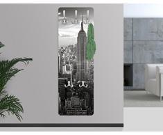 Appendiabiti - Manhattan Skyline 139x46x2cm, appendiabiti a muro, appendiabiti da muro, appendiabiti da parete, appendiabiti design