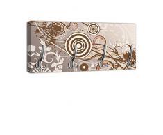 Appendiabiti con Design Monika maniglia, attaccapanni appendiabiti da parete DG142 (75x35cm)