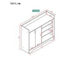 ZR- Shoebox Household Hall Cabinet Imitazione Legno Colore Ingresso Armadio Scatola Di Immagazzinaggio Semplice Assemblea Risparmio Di Spazio - Decorazione murale ( Colore : White-119.4*30*80cm )