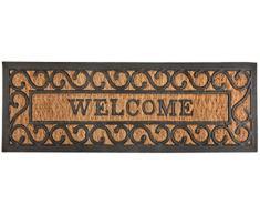 """Esschert's Design RB169, zerbino in Gomma e Fibra di Cocco con Scritta in Inglese """"Welcome"""""""