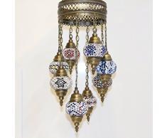 Lampada da soffitto a forma di lampadario a, lampada da tavolo a forma di lanterna, lampade a sospensione a sospensione stile marocchino, da TK Bazaar