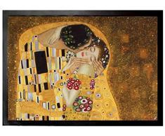 Set: 1 Zerbino (70x50 cm) + 1 Tappetino per Mouse (23x19 cm) - Gustav Klimt, Il Bacio II