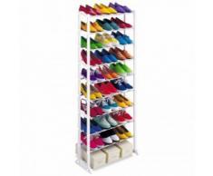 Home Mensola a 10 livelli Scarpe talloni Baskets Mensole Rack portaoggetti organizzatore Supporto Disponibile in due colori bianco