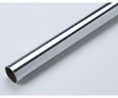 1 tubo armadio, attaccapanni, asta appendiabiti, metallo, cromato lucido, tonde, lunghezza complessiva 1200 mm, diametro 18 mm