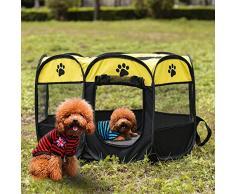 Tempshop Portacappelli Portatile per Cani Pieghevoli Indoor Outdoor Cats Coniglio Kennel Rimovibile Copertura Paralume in Rete