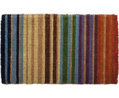 Entryways - Zerbino in fibra di cocco, tessuto a mano, motivo: Arcobaleno, 45 x 75 cm
