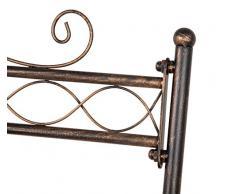 Dipamkar® Bianca Stile Antico Stand Appendiabiti Attaccapanni di Ferro Shoe & cappelliera 180 x 100 x 50 cm