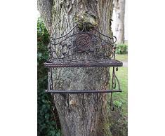 Mensola ferro attaccapanni nostalgico armadio in stile antico marrone giardino