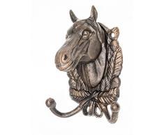 Attaccapanni Asciugamano Cavallo Armadio Rack di Ferro in Stile Antico del