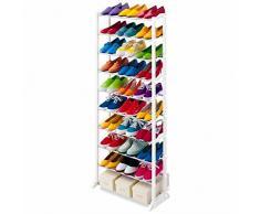 Scarpiera Organizzatore di Scarpe 10 posizioni per 30 paia Scaffale Shoe Rack