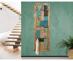 Apalis appendiabiti Vintage Rustic Timber - natura - Maritim - Appendiabiti rustico Taglia Axl: 139 cm X 46 cm