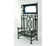 Appendiabiti Stand in Miniatura in Ferro Battuto Nero con Specchio Accessori per Casa delle Bambole