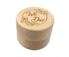 Mysticall Portacappelli con anello in legno per matrimoni, portaconfetti, portaconfetti