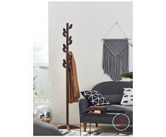WAZY Portacappelli in legno massiccio per uso domestico Portico per pavimento rimovibile verticale Salvaspazio verticale salvaspazio (186 * 45 * 45 cm) Nero (Colore : D)