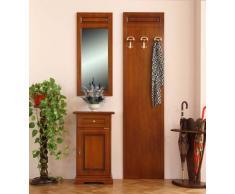 Arteferretto Set mobili Arredamento Ingresso: specchiera (43 x 99,5 cm) + mobiletto svuotatasche/portatelefono con cassetto (48 x 82 cm) + Pannello Appendiabiti da Muro (50 x 200 cm).