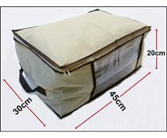 Generic NV _ 1001002544 _ NH _ EUR17.. 45 x 30 x 20 cm copripiumino box sotto letto Hes S baule cassapanca vestiti scarpe C T copripiumino per letto beige Big Storage box Toys U