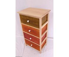 Side armadio, credenza, cassetto/corridoio armadio 4 cassetti colorati disponibile in 3 misure