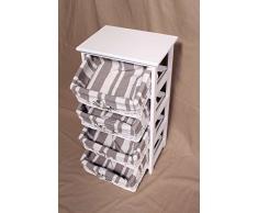 Corridoio armadio da bagno, 4 – Armadietto Cassetto cestino cassetti