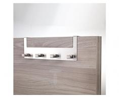 Wink design, Roseville, Appendiabiti Per Porta, Metallo, Argento