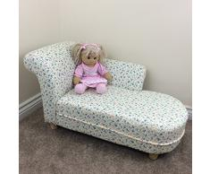 Tiny Royals - Poltrona con chaise lounge, per bambini, motivo: floreale