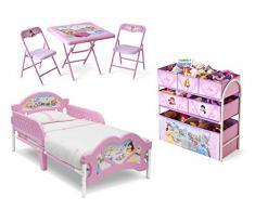 Room in a Box Principesse Disney Lettino Portagiochi e Tavolino con Seggioline