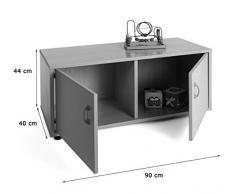 Mobeduc 600106HPS23-Mobiletto per bambini superbajo/armadio a 2 parti, in legno, colore: faggio/bianco, dimensioni 90 x 40 x 44 cm
