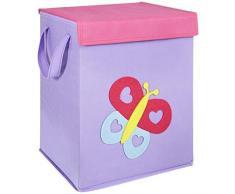 LOMOS contenitore per giocattoli piegabile con diversi motivi e tanto spazio (37x30x26cm)