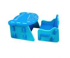 meiqicool Childrens New Animal Eva Puzzle Set di Tavolo e Sedia Bambini mobili ZY18LQL