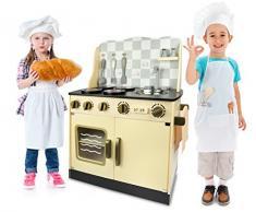 Leomark Cuisine Vintage In Legno Giocattolo Per Bamibni Gioco Gimitiazione Educazione Tavola Divertimento Accessori Da Cucina Alta Qualità Oro