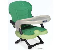 CAM S333 P17 Seggiolone rialza sedia Smarty, Verde, Imbottitura assortita omaggio imbottitura assortita