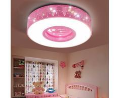 Per i bambini le luci in camera 40W ragazze luci camera da letto Lampade da soffitto LED per le stelle le luci della stanza Principessa caldo Matrimonio romantico camera rotonda bianca 40cm