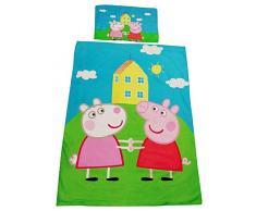 Tessili per la casa dei bambini, set di biancheria da letto con Peppa Wutz e Luzie Locke, realizzati in 100% cotone, OEKO-TEX